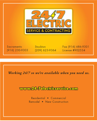 2-sided business card sample